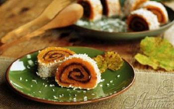 Cách làm bánh bí ngô cuộn hấp dẫn không cần lò nướng