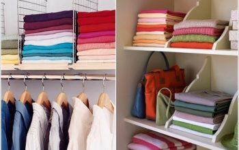 Mẹo dọn tủ quần áo gọn dành cho mọi người