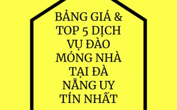 Bảng Giá & Top 5 Dịch Vụ Xe Đào Móng Nhà Tại Đà Nẵng Uy tín Nhất
